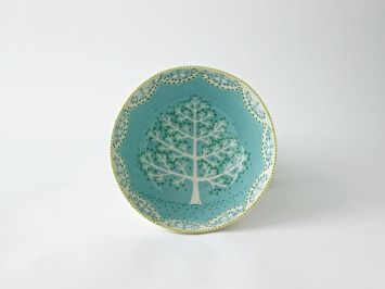 sky blue tree large bowl