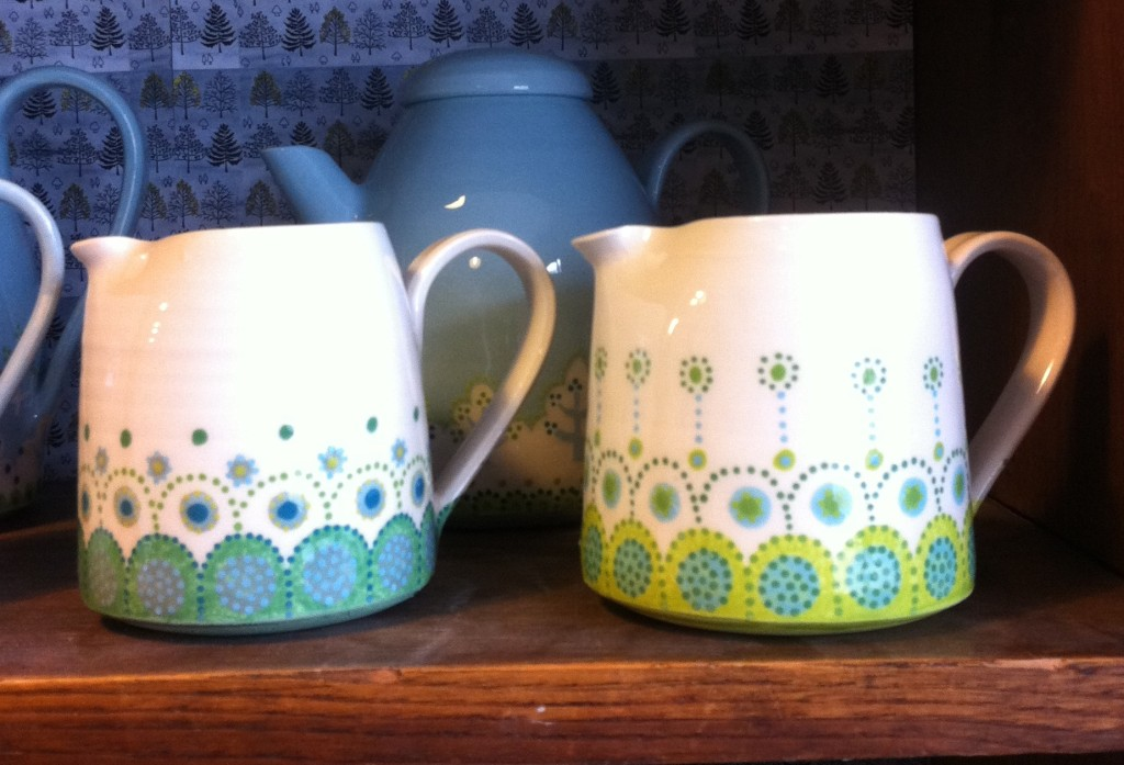 two fair isle jugs